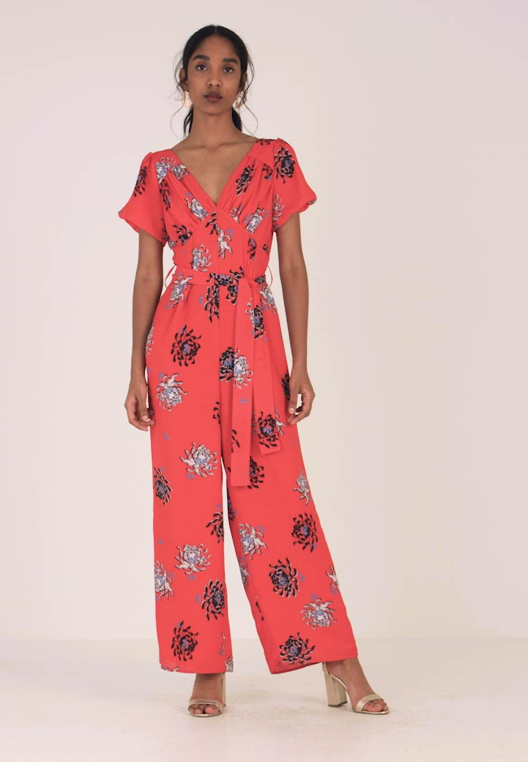 Jumpsuit red Print In Ink Multi Floral Lost FgUOI