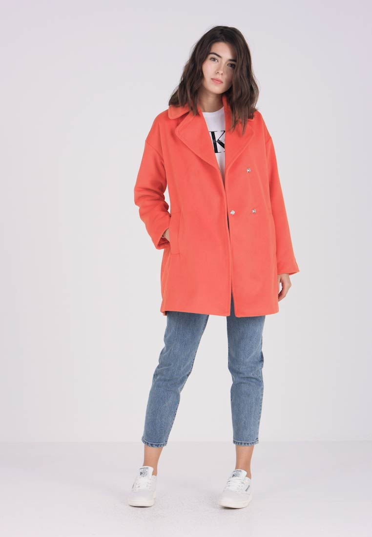 Wollmantel Coat Colour Cocoon Mantel Ink klassischer Pop Lost In Orange w6xgqYfc