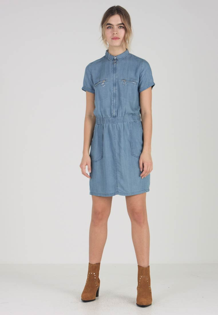 Le Temps Des Cerises - UBUD - Denim dress - medium blue denim