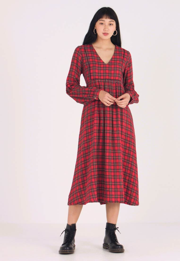 Leon & Harper - RODRIGUE TARTAN - Day dress - red
