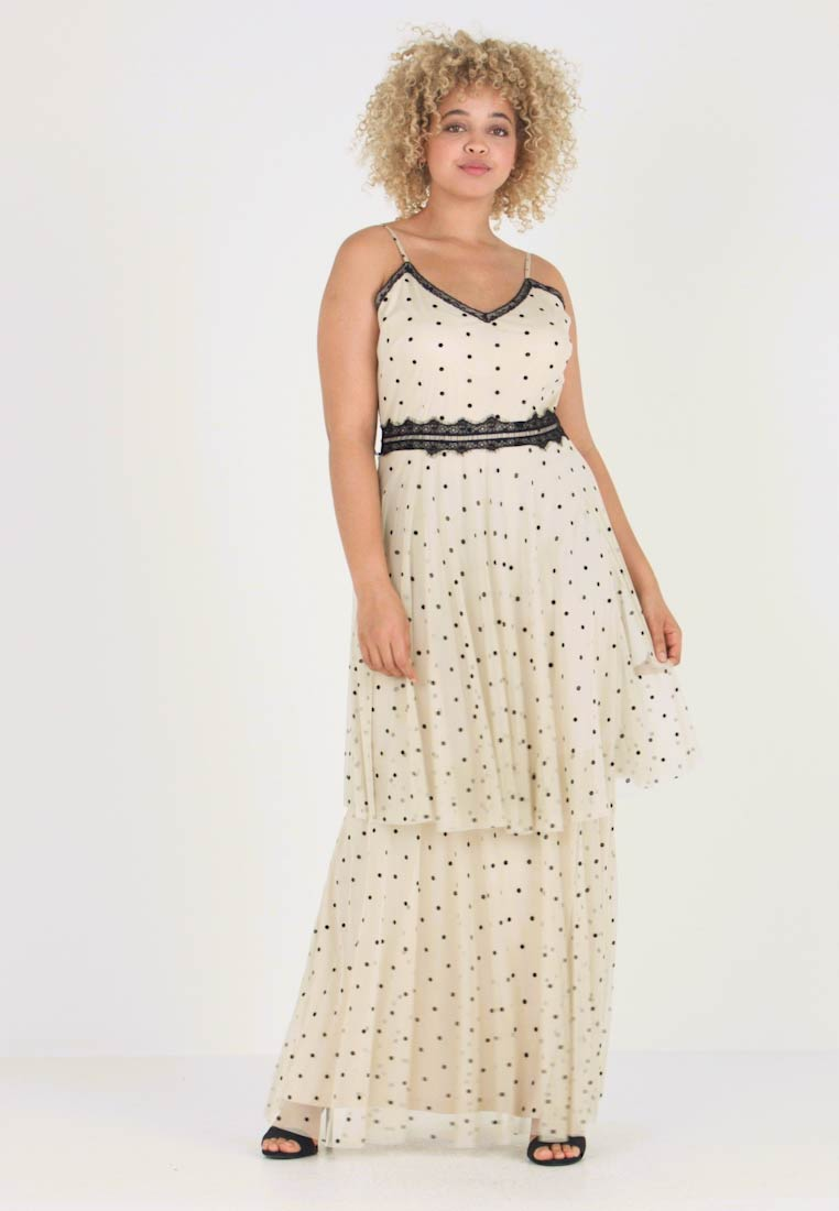 Lace & Beads Curvy - EXCLUSIVE DIANA SPOT DRESS - Ballkjole - nude with black