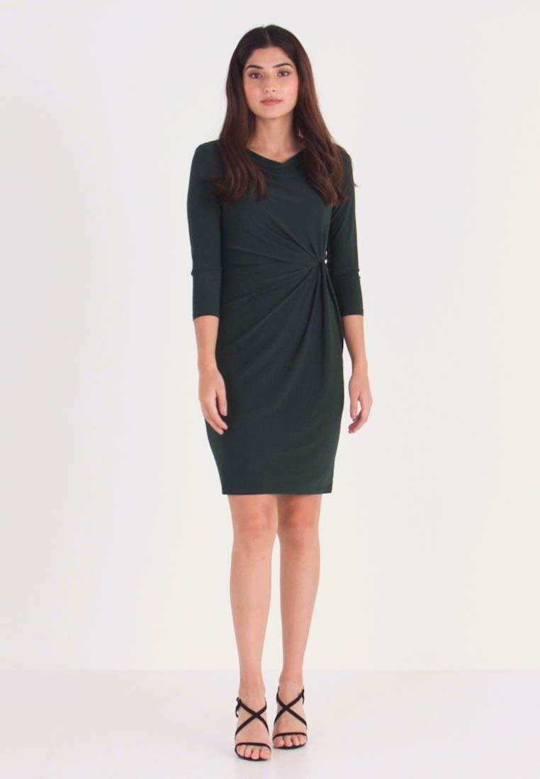 Lauren Ralph Lauren Petite - TRAVA SLEEVE DAY DRESS - Fodralklänning - dark fern