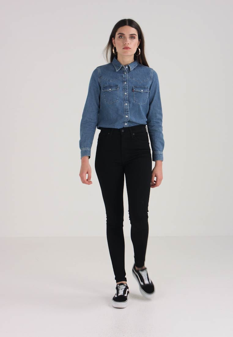 Levi's® - MILE HIGH SUPER SKINNY - Skinny-Farkut - black galaxy