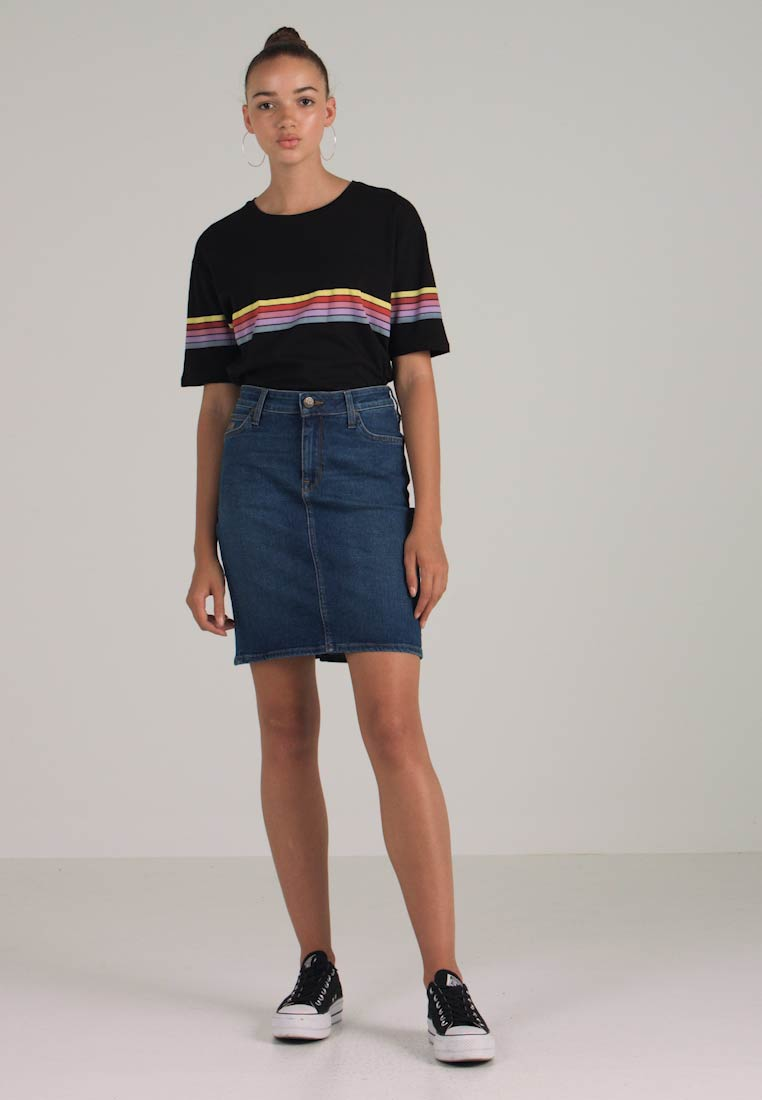 True Skirt High Lee Blue Pencil Waist T8ITxwqEr
