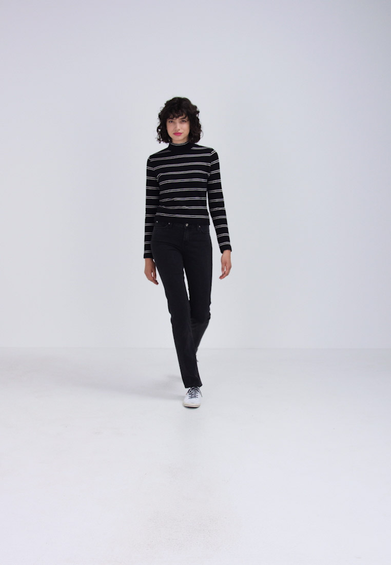 Lee MARION STRAIGHT - Slim fit jeans charcoal powder