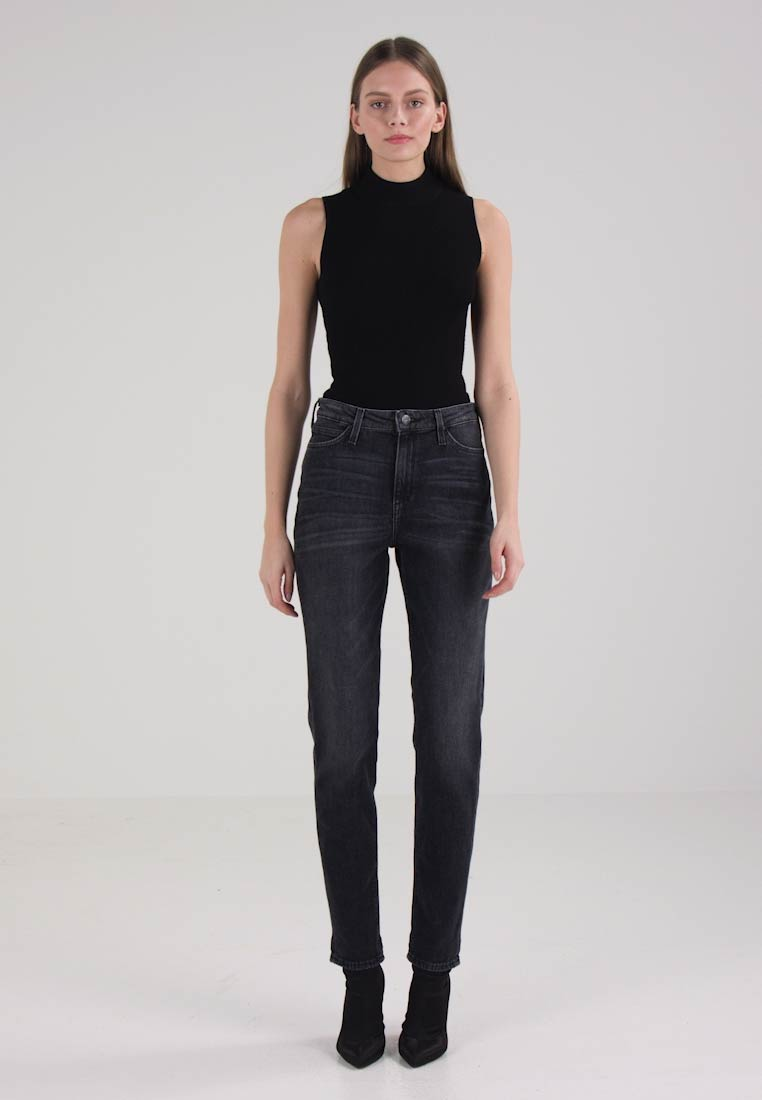 Lee MOM STRAIGHT - Straight leg jeans - black raw