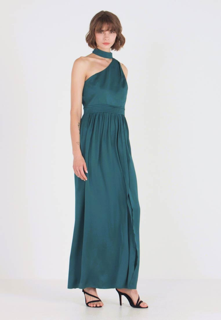 Little Mistress - ANJA ASYMMETRIC HALTER DRESS - Occasion wear - kingfisher