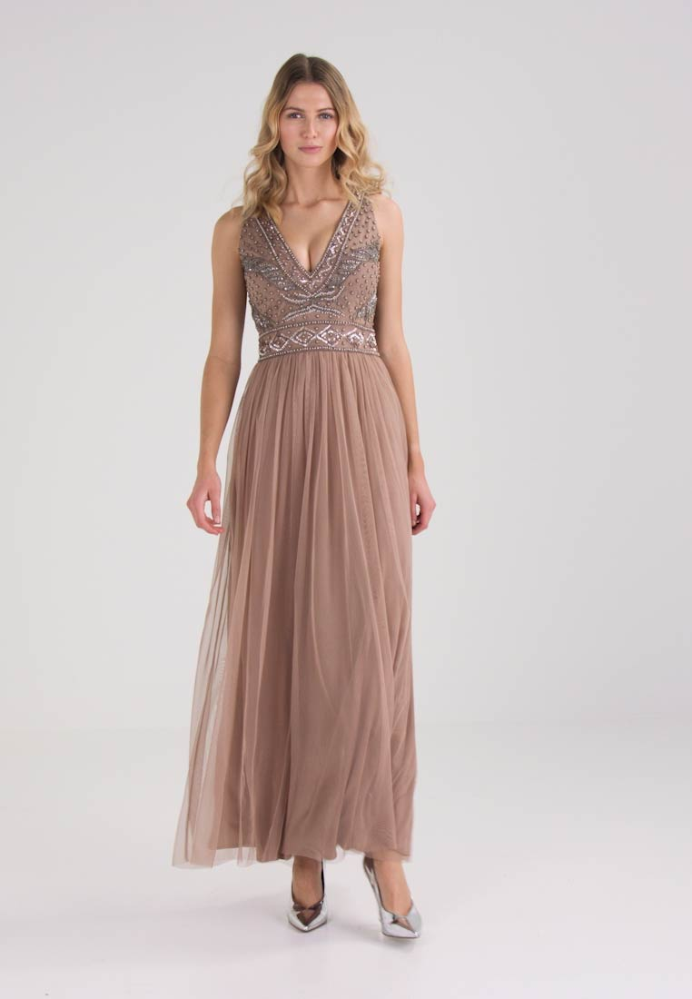Lace & Beads AMORA MAXI - Cocktailkleid/festliches Kleid - taupe ...