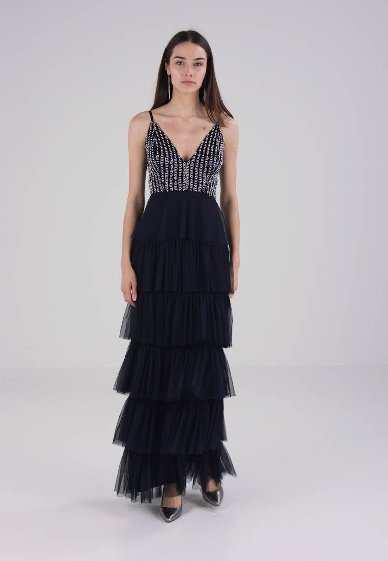Lace & Beads BYONCE LAYERED MAXI - Robe de cocktail - navy