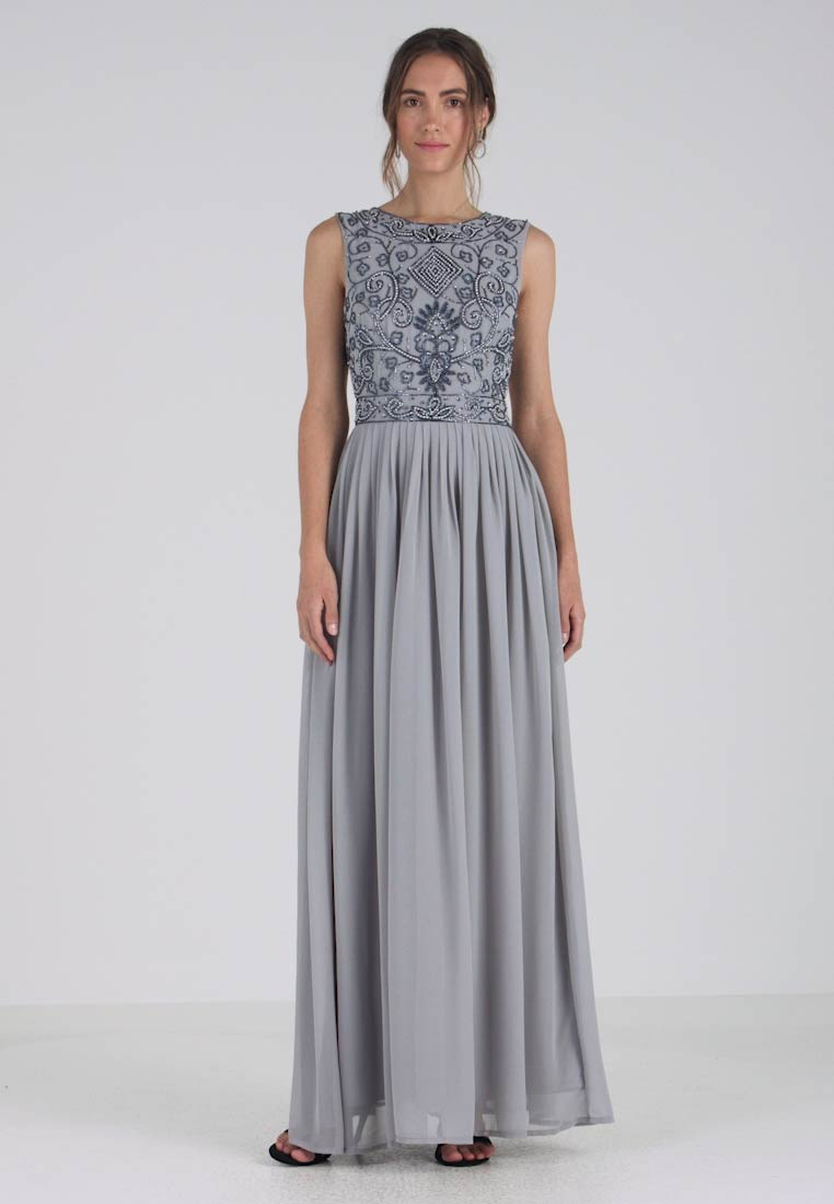 Lace & Beads - PAULA MAXI - Vestido de fiesta - light grey