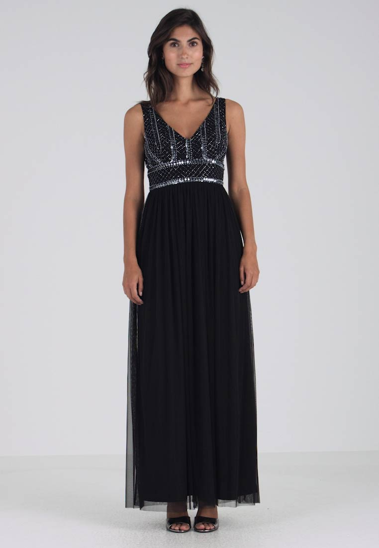 Lace & Beads - MULAN MAXI - Ballkleid - black