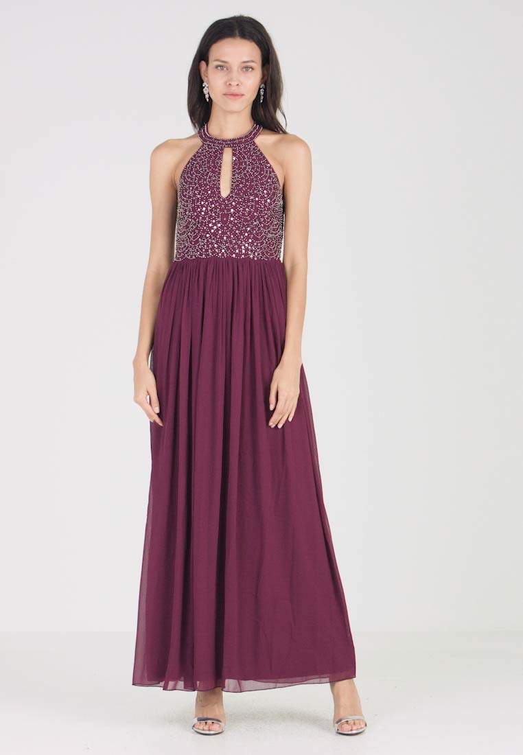 Lace & Beads - LESHIL MAXI - Robe de cocktail - burgundy