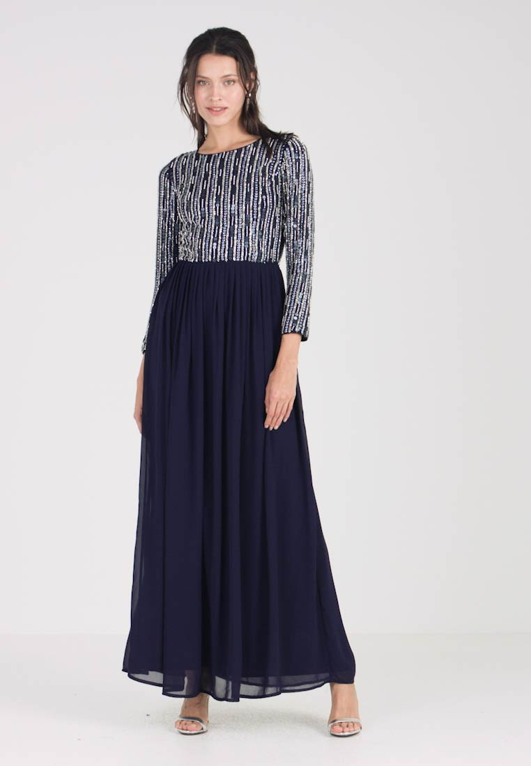 3a34fc15a57 Lace   Beads JOVIE MAXI - Robe de cocktail - navy - ZALANDO.FR
