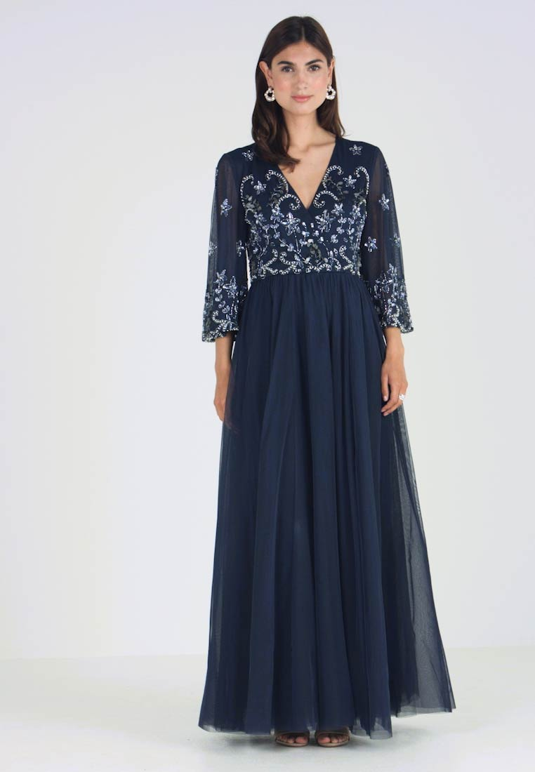 de5bfd23903 Lace   Beads CHRISSIE MAXI - Robe de cocktail - navy - ZALANDO.FR