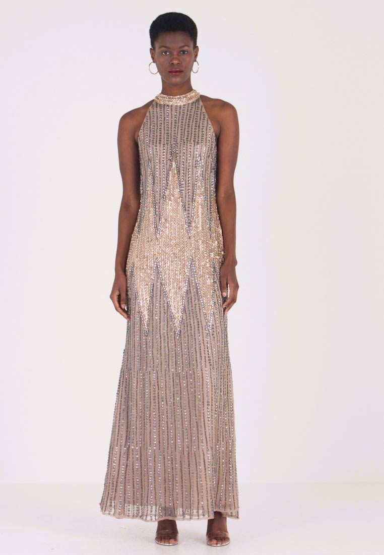 Lace & Beads - DANICA MAXI - Ballkleid - taupe