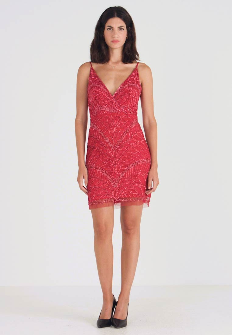 Lace & Beads - MAY DRESS - Cocktailkleid/festliches Kleid - red