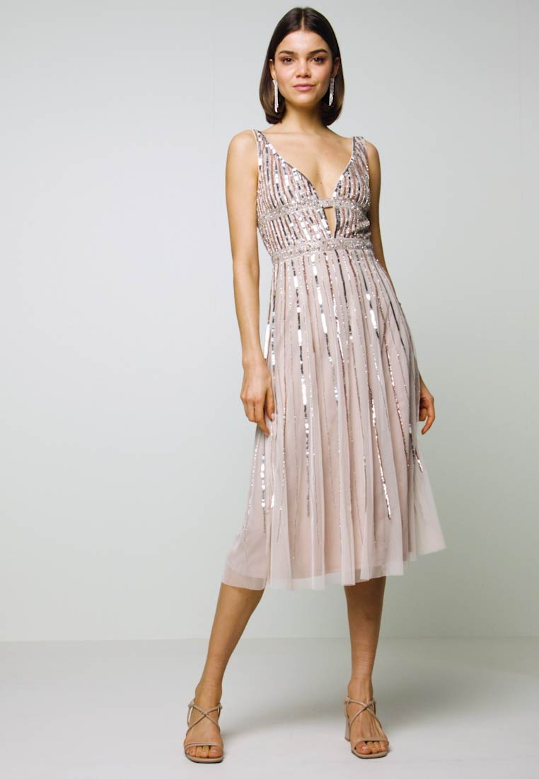 taupe beaded kleid new arrivals 205b1 2bd75