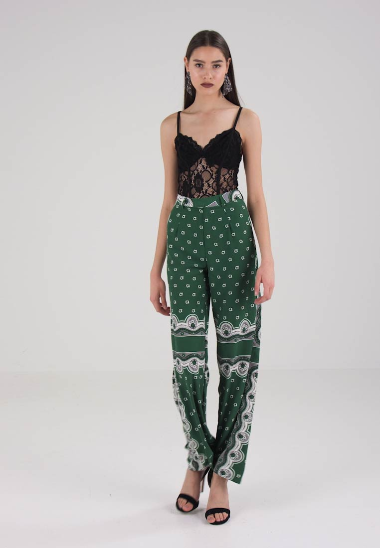 FLORAL TROUSERS Missguided Missguided FLORAL PRINT PRINT TROUSERS Bukser IOwxYO18