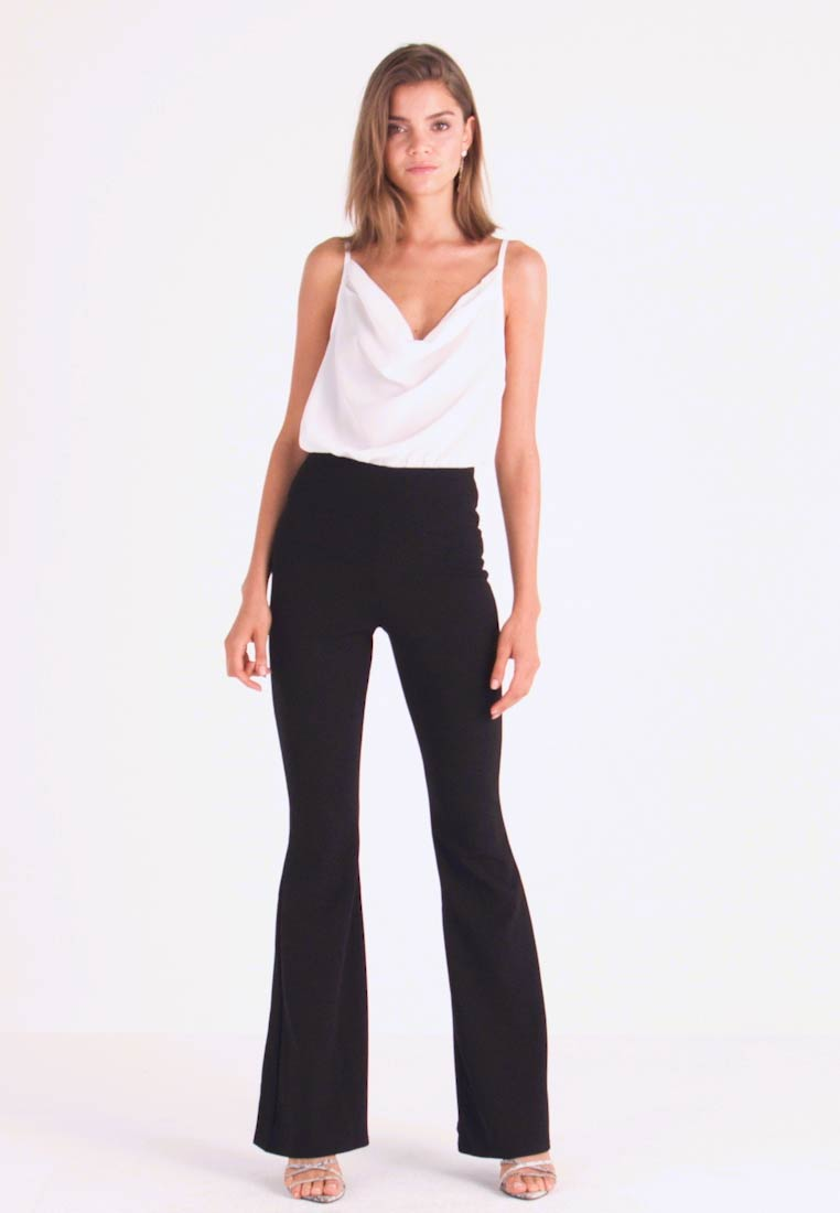Missguided - TROUSER FLARE - Kangashousut - black