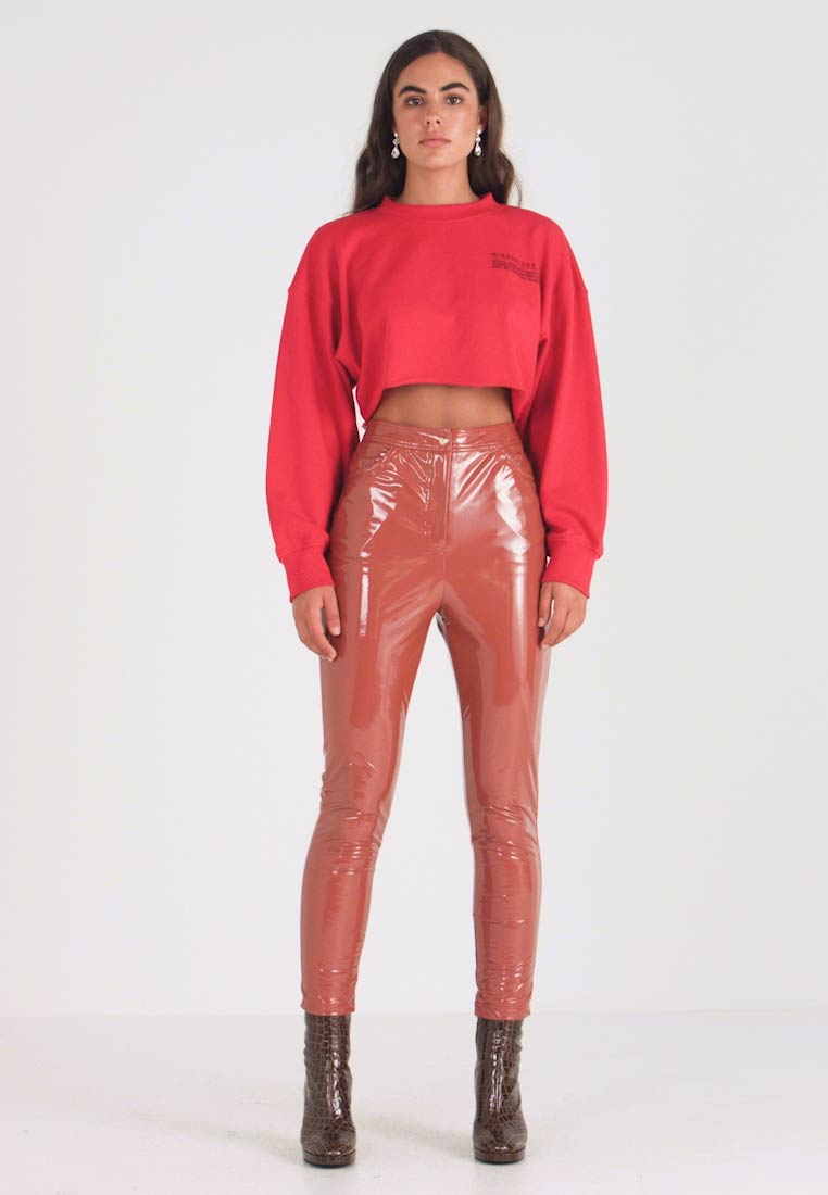 Missguided - HIGH WAISTED TROUSERS - Kalhoty - brown