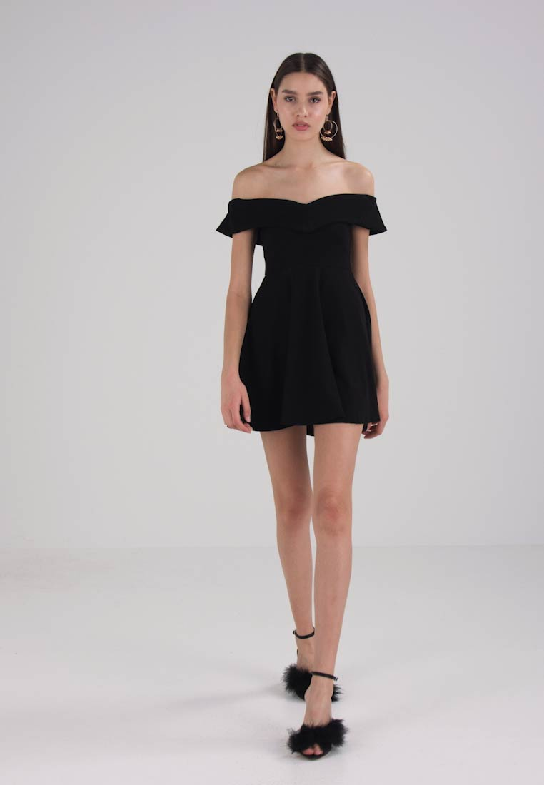 Missguided WRAP BARDOT SKATER DRESS - Cocktailjurk