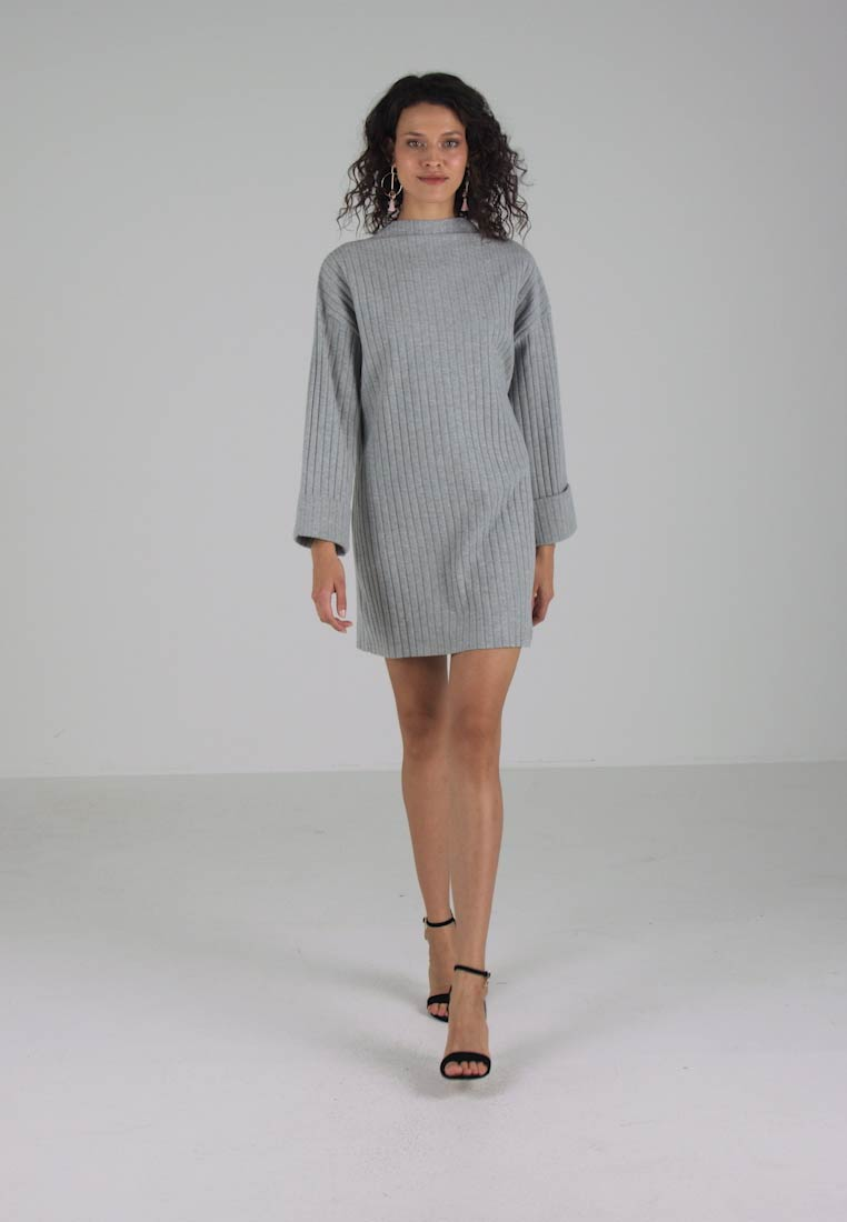 Missguided LONG Strikket kjole SLEEVE FOLDED CUFF DRESS gSrOqgw