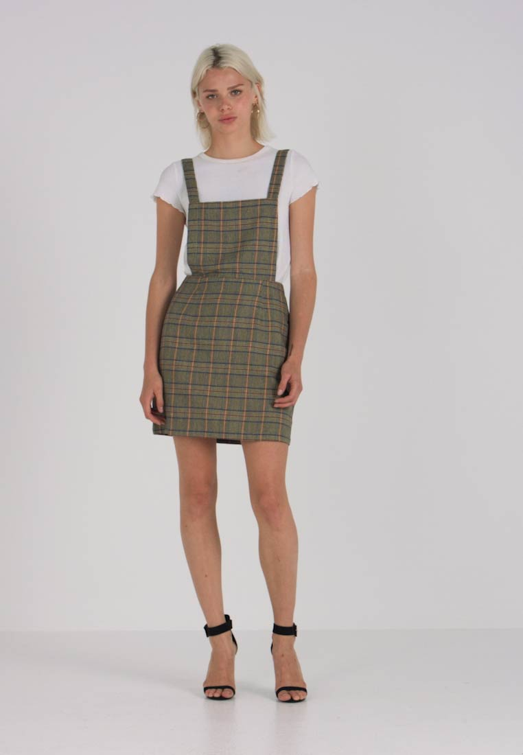 Discover terrific value best site EXCLUSIVE CHECK CROSS BACK PINAFORE DRESS - Day dress - brown