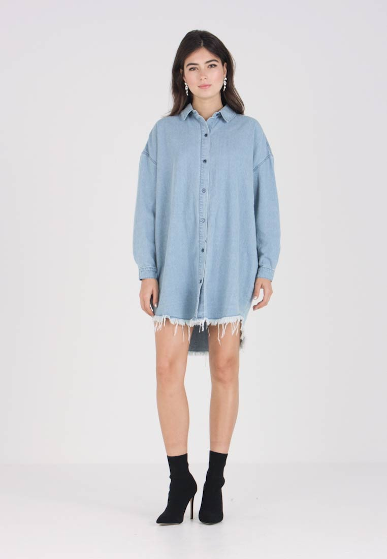 Missguided Oversized Missguided Oversized Blue Dress Jeanskleid Missguided Dress Blue Blue Jeanskleid Oversized Dress Jeanskleid Missguided BwAnYxqIHF