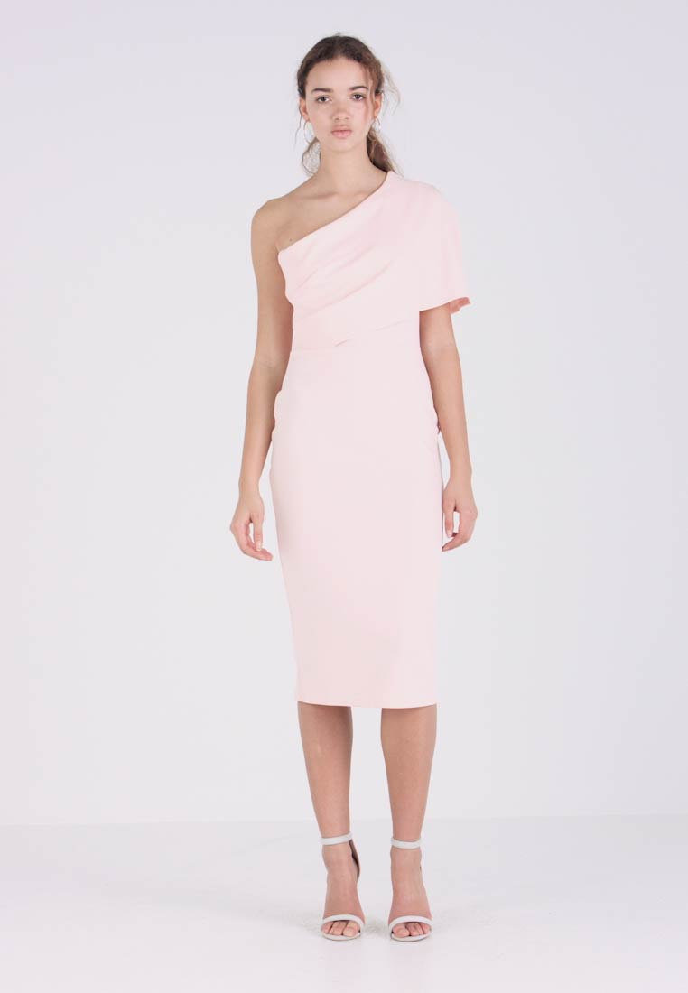 Etui Shoulder jurk Midi Missguided Blush Pink Dress One IfCwZqU