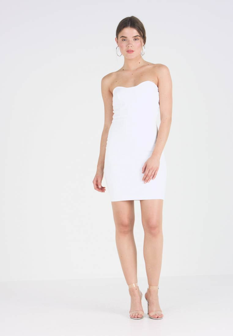 Kleid White Missguided Mini DressCocktailkleid Bandeau Zalando festliches OXZuPik