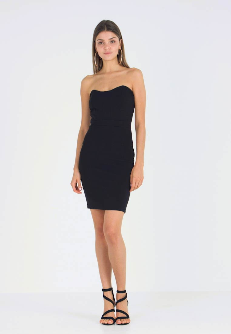 Missguided festliches Bandeau Black Mini Kleid DressCocktailkleid 8nwm0N