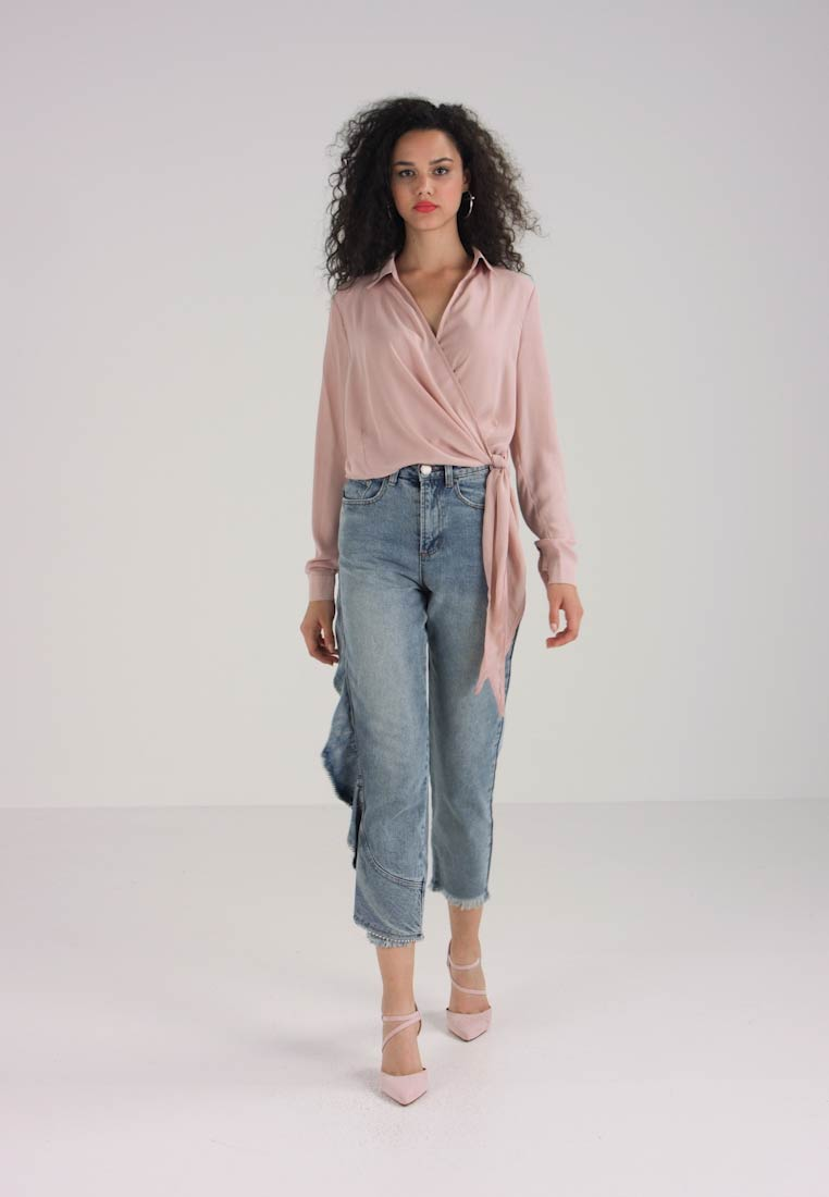 OVER BLOUSE TIE Bluser WRAP Missguided SIDE 5Yw6Ix1pnq