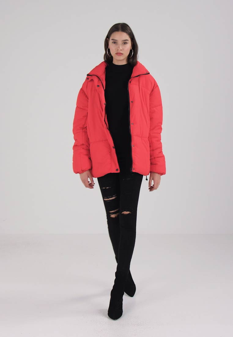 2fe907910a541 Missguided ULTIMATE OVERSIZED PUFFER JACKET - Winter jacket - red ...