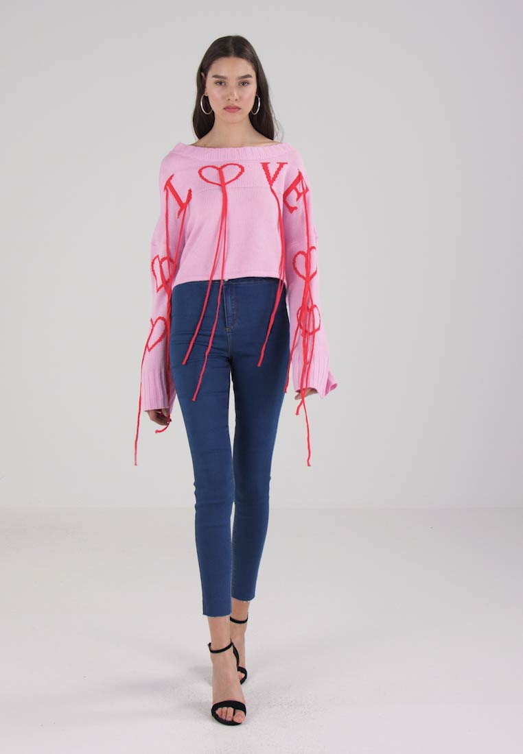 Missguided Love Jumper With Tassels Blush Carter