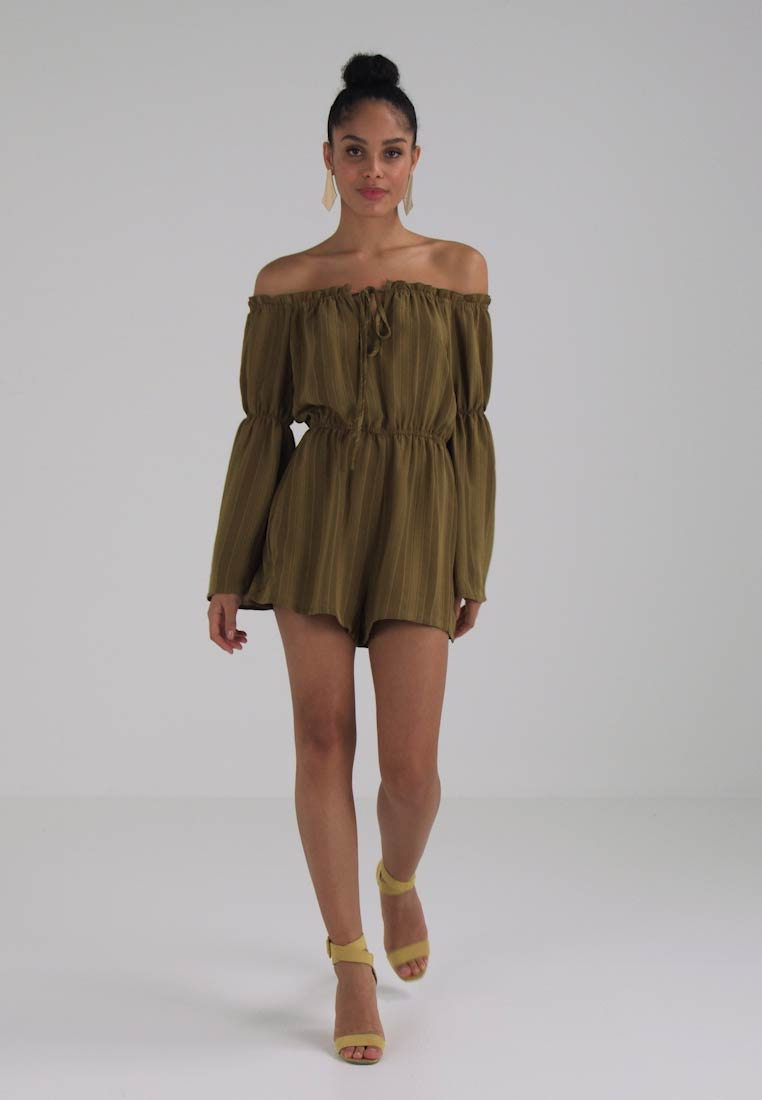 TIE Jumpsuit PLAYSUIT GYPSY DETAIL BARDOT Missguided E7wRqpx