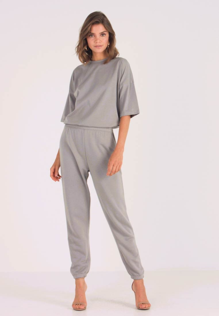 Missguided - TEE AND JOGGER SET - Jogginghose - grey