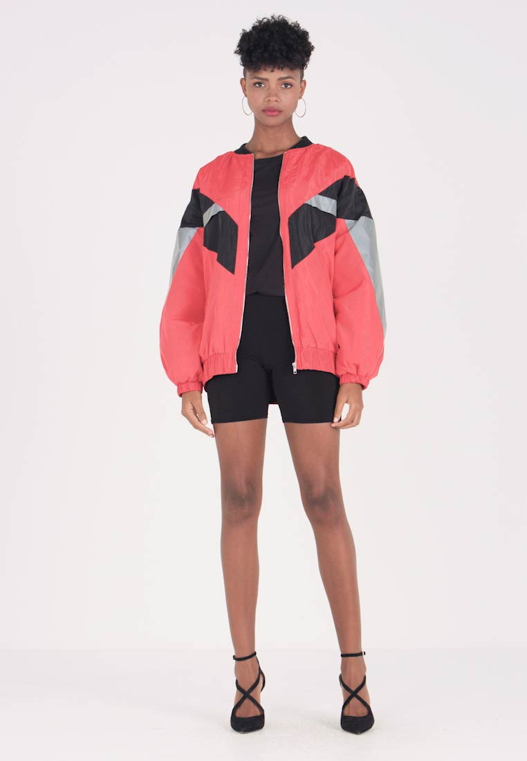 Winterjacke Missguided red Thru Zip Jacket Black Colour Block AqXxgA