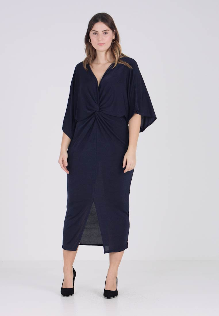 Kimono Missguided Curve Plus Midi Twist Front Dress Slinky Sleeve MqpGUVzS