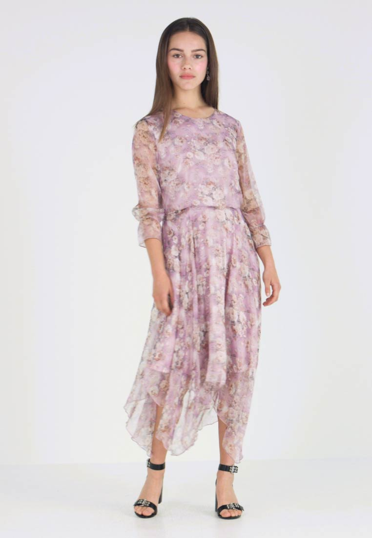 Missguided Petite - FLORAL HANKEY DRESS - Vestito lungo - lilac