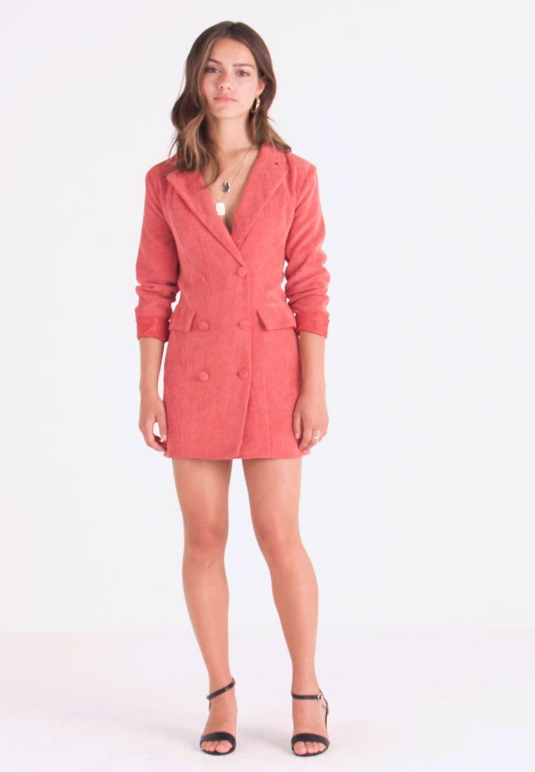 Missguided Petite - BUTTONED BLAZER DRESS - Kjole - coral