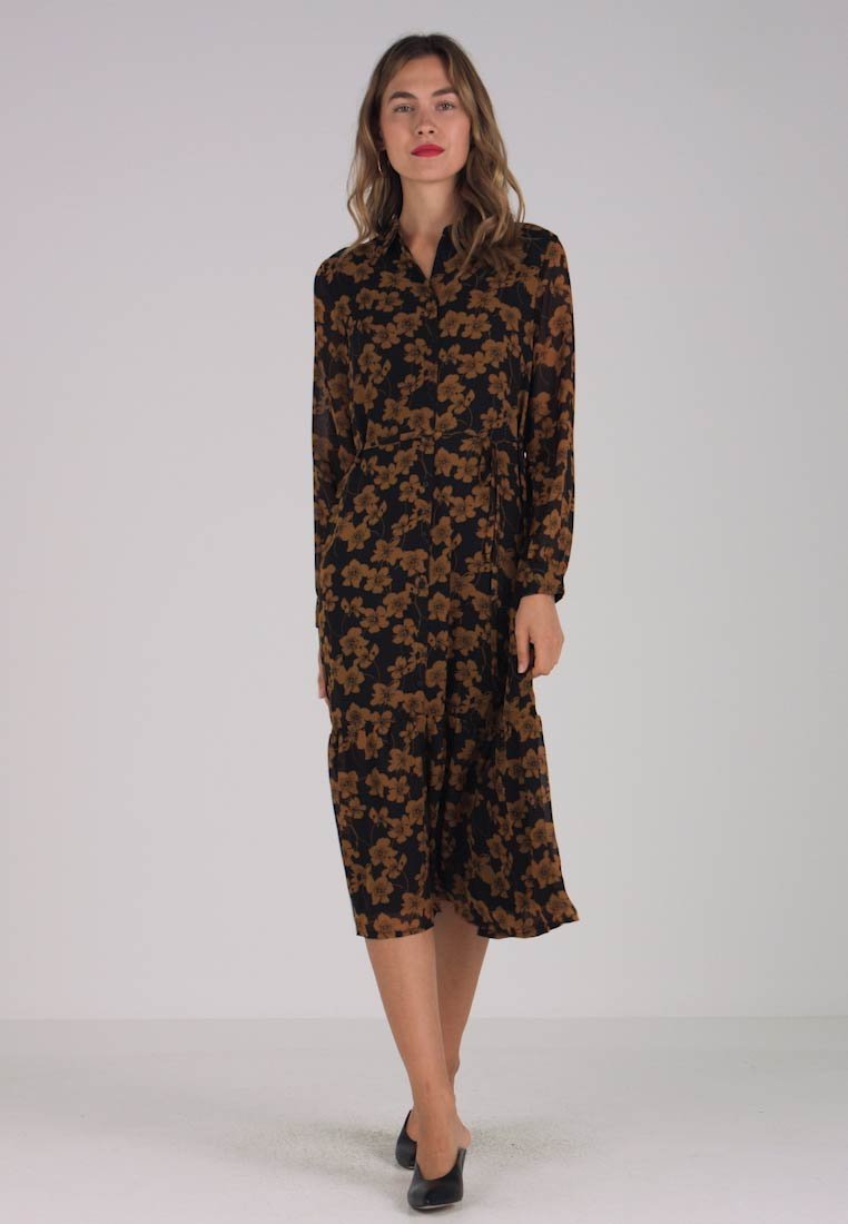 Moss Copenhagen - GRACIE DRESS - Vestito lungo - light brown/black