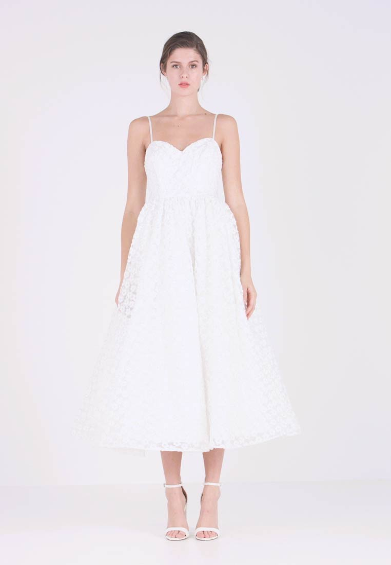 Maya Deluxe - EMBROIDERED DRESS WITH SEQUIN - Ballkleid - ivory