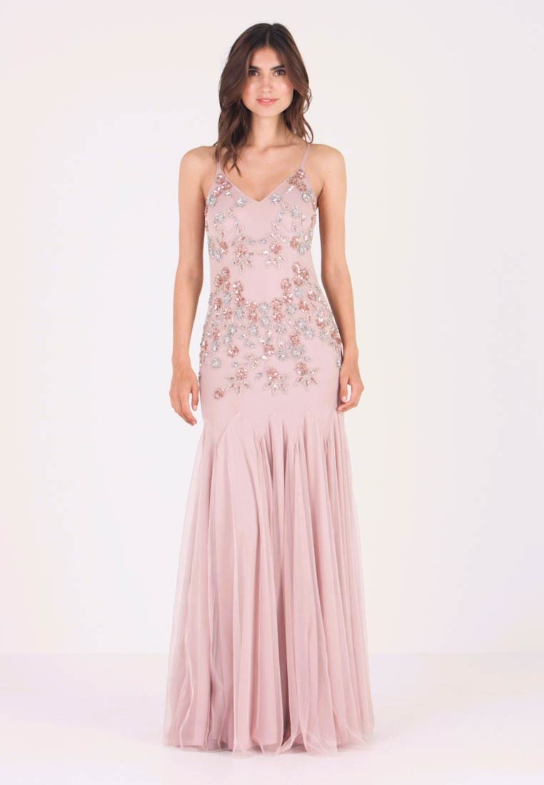Maya Deluxe - EMBELLISHED CAMIMAXI DRESS WITH FISHTAIL - Galajurk - frosted pink