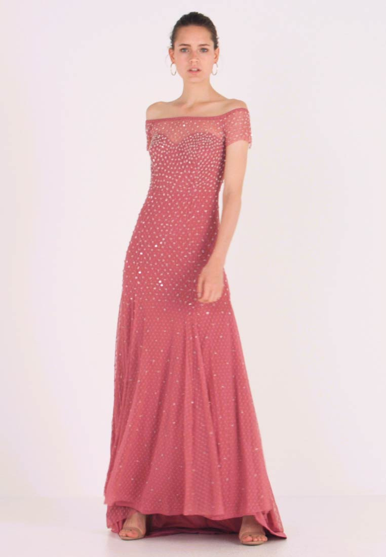 Maya Deluxe - EMBELLISHED BARDOT SPOT DRESS WITH CLUSTER SEQUINS - Ballkleid - rose pink