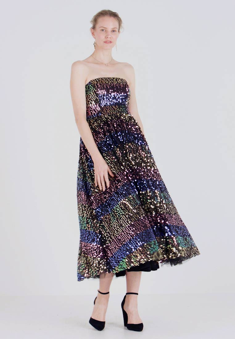 Maya Deluxe SEQUIN BANDEAU MIDAXI DRESS