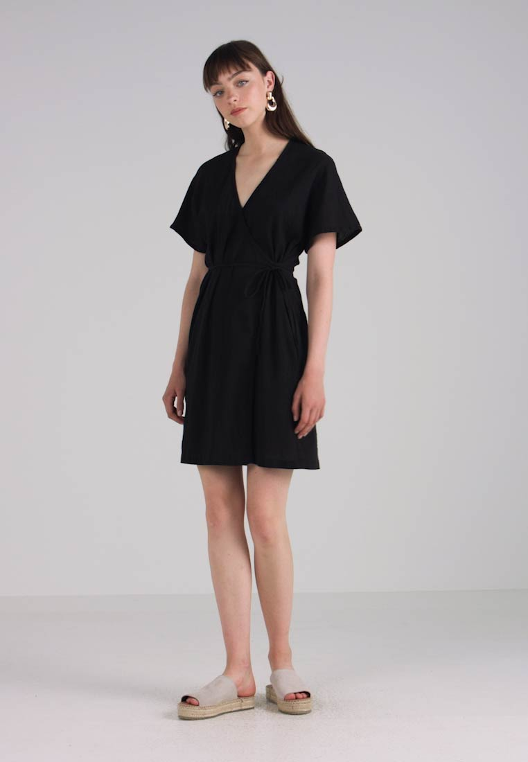 True Wrap Day Black Dress Madewell Robe cAqRx7
