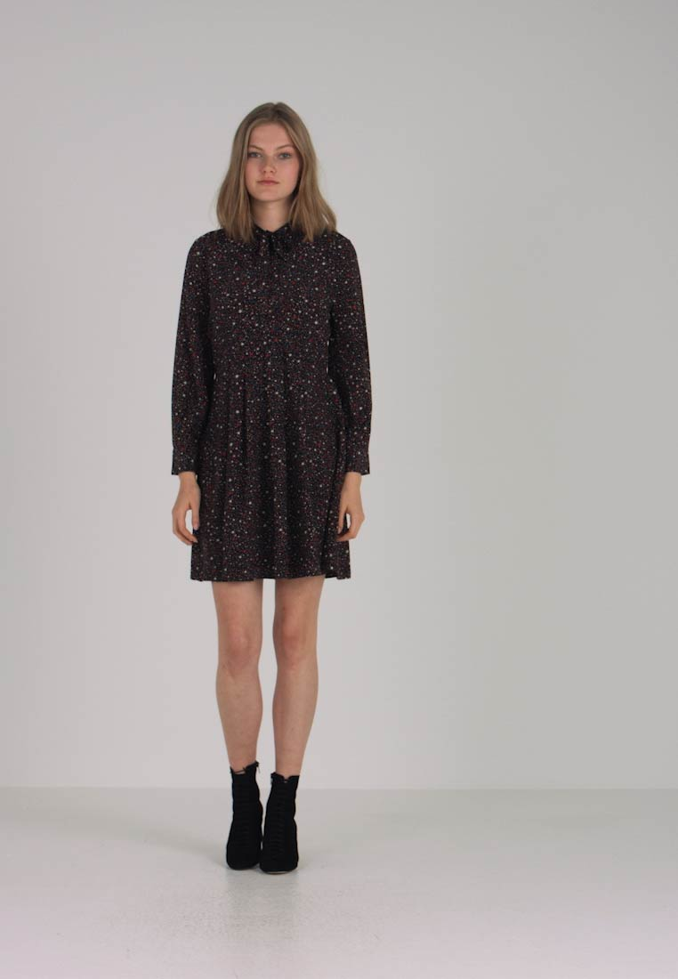 Madewell LONG SLEEVE TIE NECK DRESS IN STARRY NIGHT - Vestito estivo -  dunkelblau - Zalando.it f1dd5545506