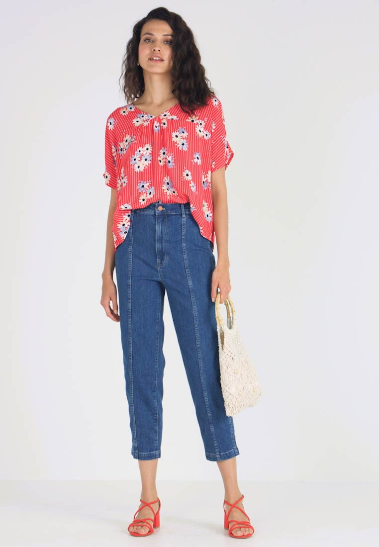 Madewell - RHYME - Bluse - retro lipstick red