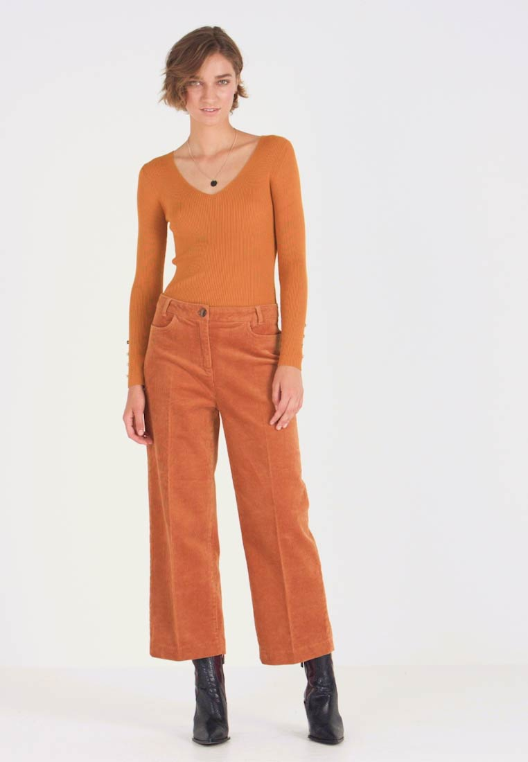 More & More - TROUSER - Stoffhose - amber gold