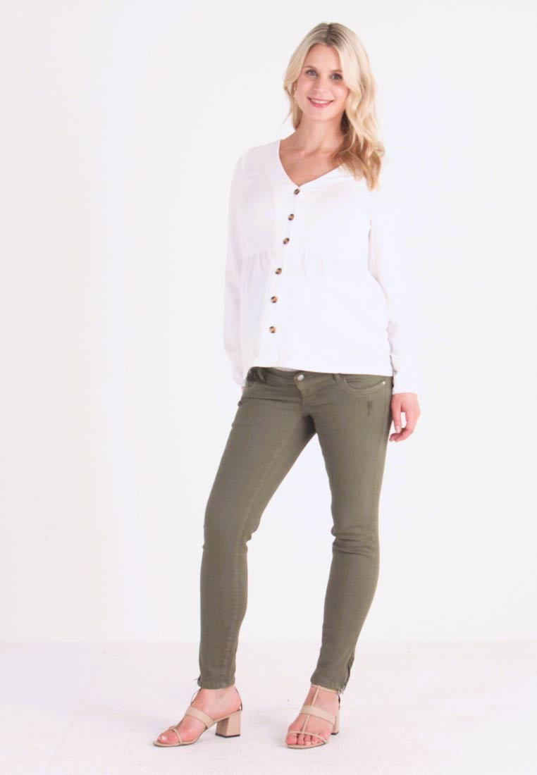 MAMALICIOUS - MLTEAL - Slim fit jeans - four leaf clover